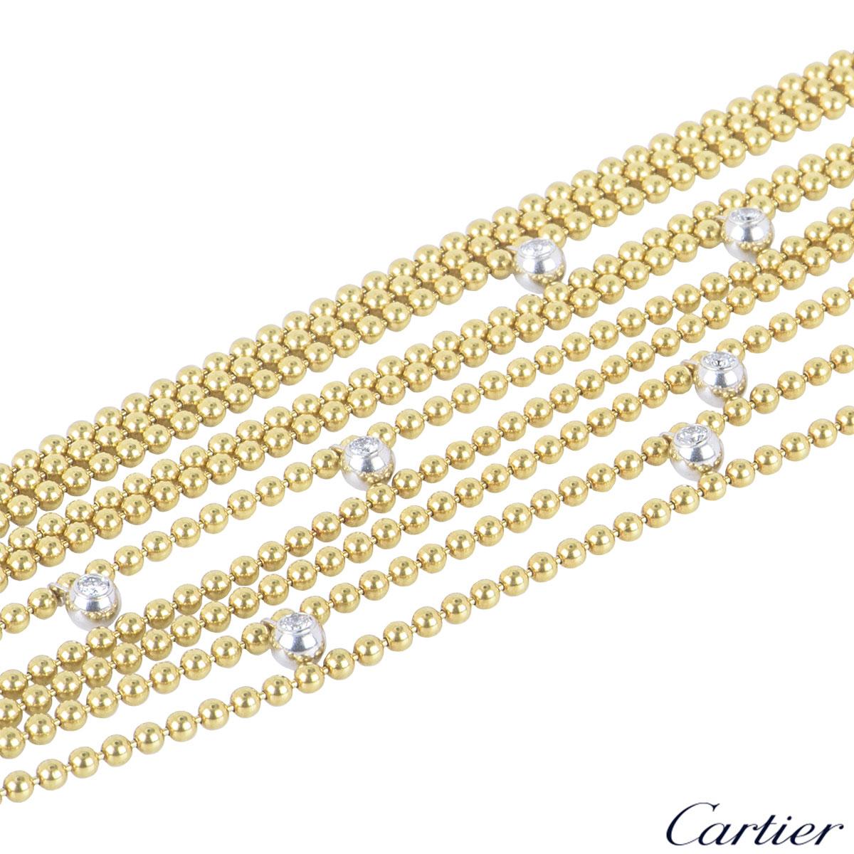 Cartier Bi-Colour Gold Diamond Draperie Necklace